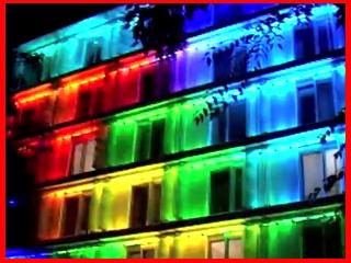 MEDIA FACADES FESTIVAL EUROPE- Lánchíd 19 Design Hotel /2010